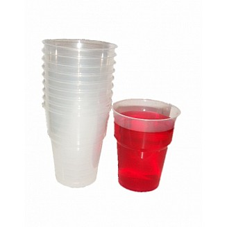 340ml Clear Plastic Cups - 1000