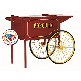 Red Popcorn Cart - 6oz and 8oz Poppers